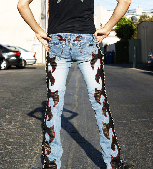 Back-Lace-Up-Jeans-Rock-Custom-Pants-Axe