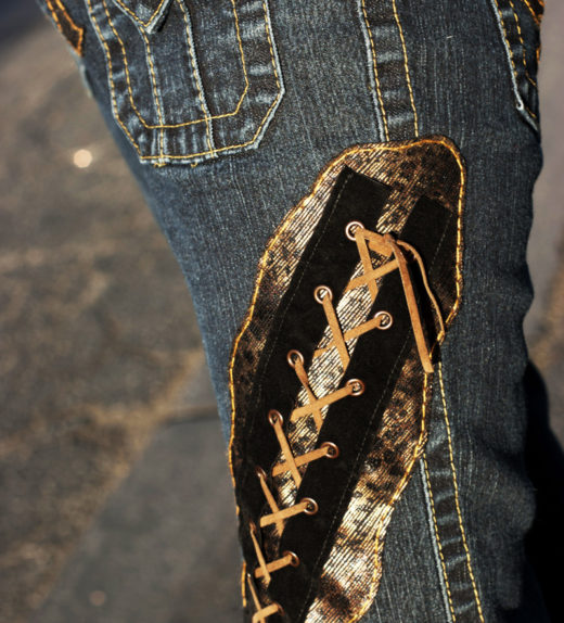 Lace-Up-Jeans-Leopard-Custom-Pants-Rock-Punk0