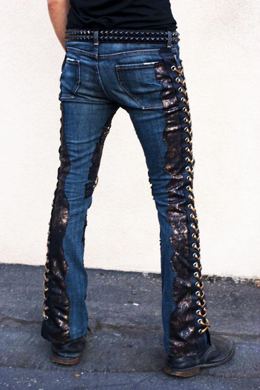 Made To Order New Custom Rock Pants Dark Blue Jeans