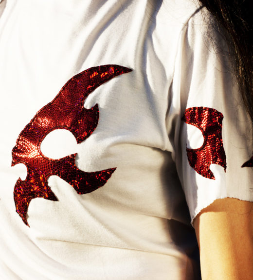 White-Shirt-Red-Shiny-Wings