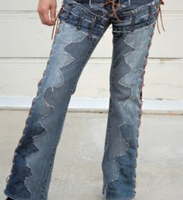 "Denim on Denim chopper Style Sides lace-Up ""Desiree"""