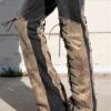 """DSC04447.jpg #2Vintage Gray Jeans With Knee high faux Golden Snake skin Lace ups front and back """"Gold Snake"""""""