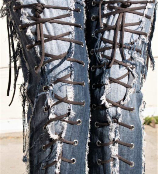 DSC04482.jpg #2 Hollywood Leggings Custom Pants-Clothes Bondage Blue