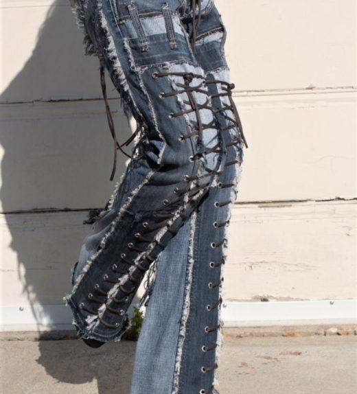 DSC04493.jpg #2 Hollywood Leggings Custom Pants-Clothes Bondage Blue