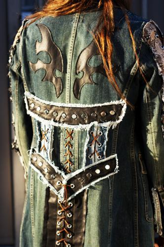 Snakeskin Denim Custom Jacket